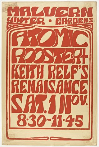 Poster for Atomic Rooster at Malvern Winter Gardens, 01 November 1969