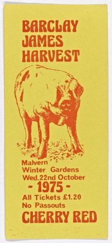 Ticket for Barclay James Harvest at Malvern Winter Gardens, 22 October 1975