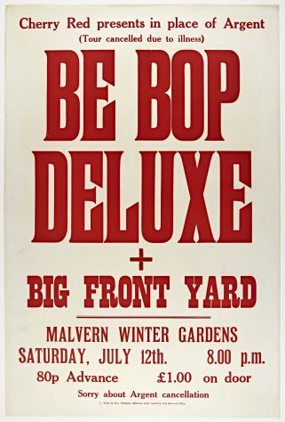 Be Bop Deluxe, Big Front Yard, 12 July 1975