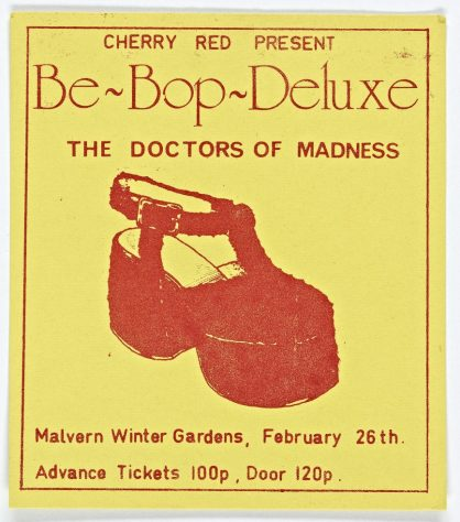Ticket for Be Bop Deluxe at Malvern Winter Gardens, 26 February 1976