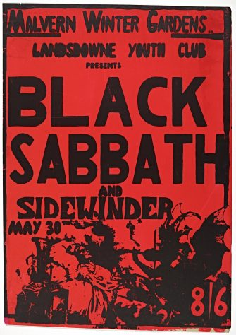 Poster for Black Sabbath at Malvern Winter Gardens, 30 May 1970