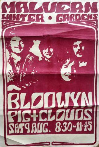 Poster for Blodwyn Pig at Malvern Winter Gardens, 09 August 1969