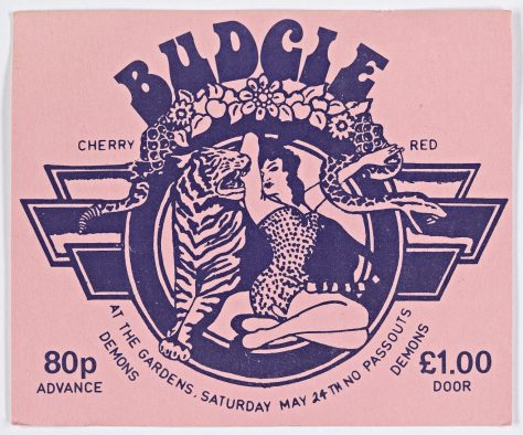 Ticket for Budgie at Malvern Winter Gardens, 24 May 1975