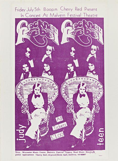 Flyer for Cockney Rebel at Malvern Festival Theatre, 05 July 1974