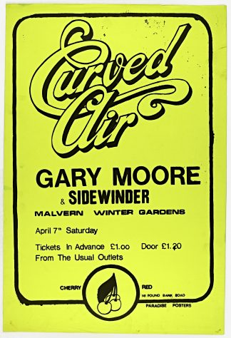 Poster for Curved Air at Malvern Winter Gardens, 07 April 1973
