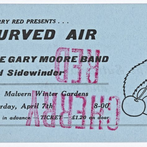 Ticket for Curved Air at Malvern Winter Gardens, 07 April 1973 | Cherry Red Promotions