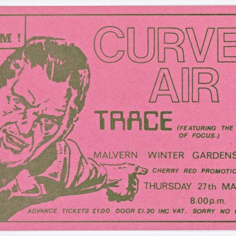 Ticket for Curved Air at Malvern Winter Gardens, 27 March 1975 | Cherry Red Promotions