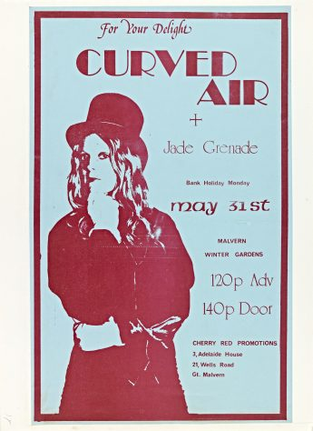 Flyer for Curved Air at Malvern Winter Gardens, 31 May 1975