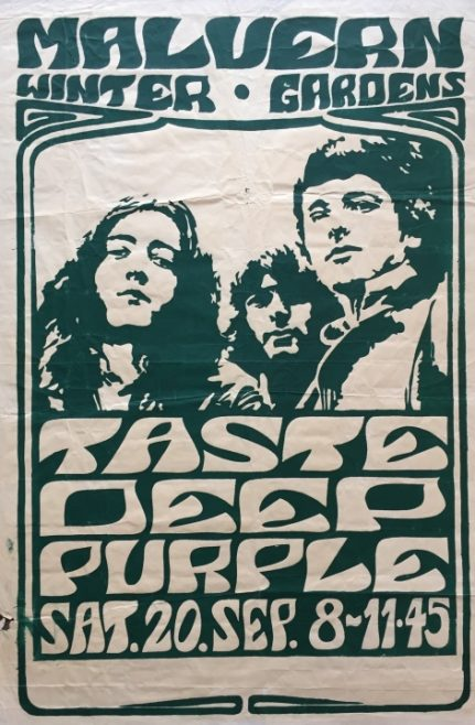 Poster for Deep Purple at Malvern Winter Gardens, 20 September 1969 | Severn Promotions