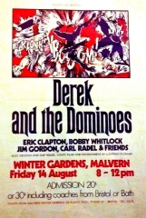 Poster for Derek and the Dominoes at Malvern Winter Gardens, 14 August 1970 | Plastic Dog Promotions