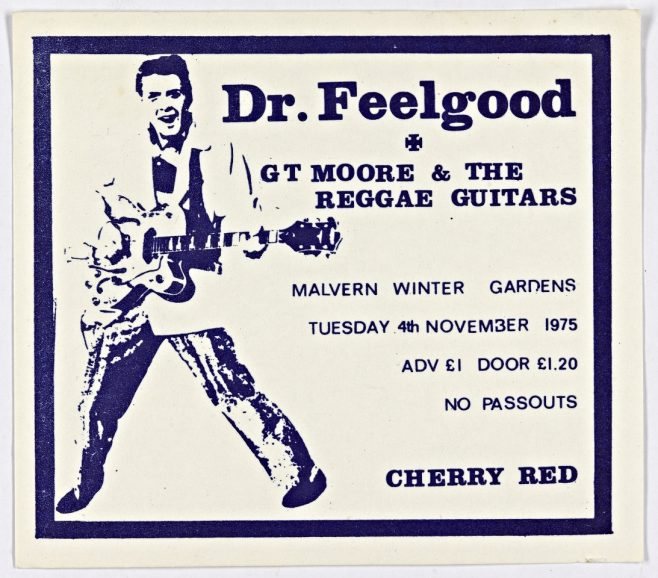 Ticket for Dr Feelgood at Malvern Winter Gardens, 04 November 1975 | Cherry Red Promotions