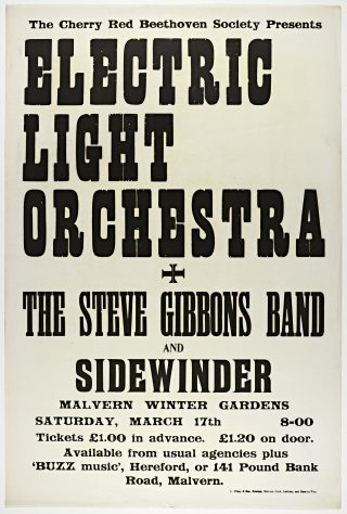 The Electric Light Orchestra, The Steve Gibbons Band, 17 March 1973