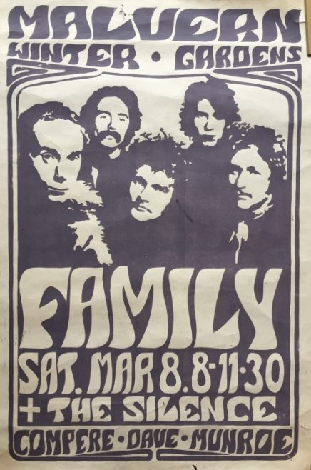 Poster for Family at Malvern Winter Gardens, 08 March 1969