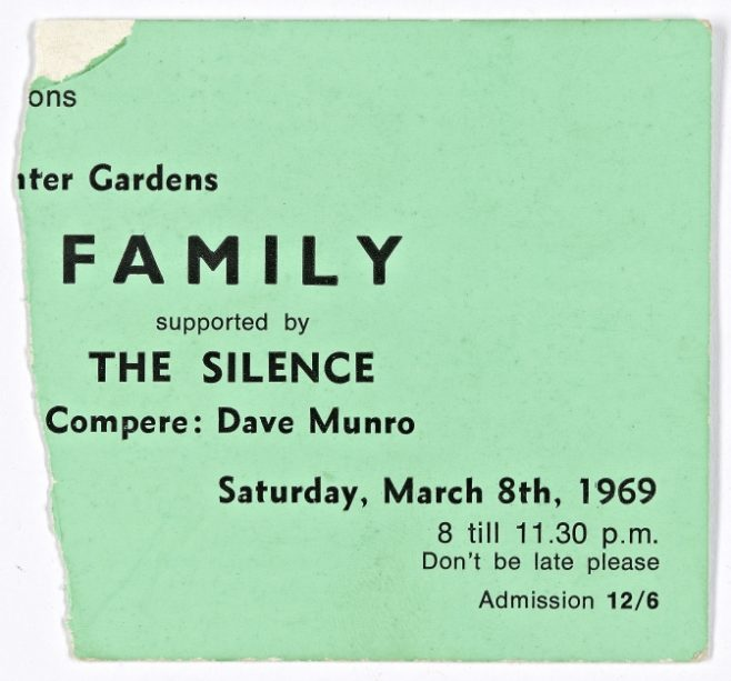 Ticket for Family at Malvern Winter Gardens, 08 March 1969   Severn Promotions