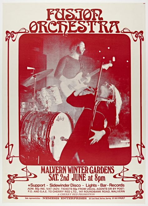 Poster for Fusion Orchestra at Malvern Winter Gardens, 02 June 1973