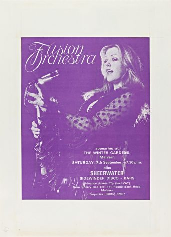 Flyer for Fusion Orchestra at Malvern Winter Gardens, 07 September 1974