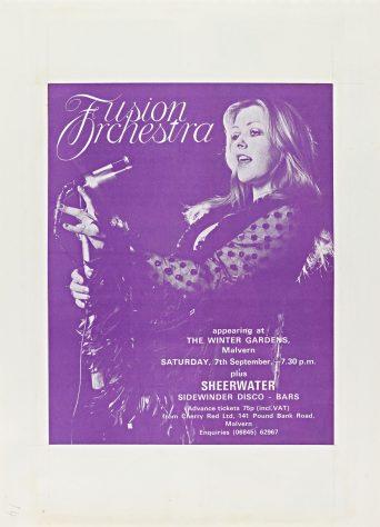 Flyer for Fusion Orchestra at Malvern Winter Gardens, 07 September 1974