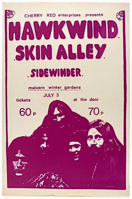 Poster for Hawkwind at Malvern Winter Gardens, 03 July 1971