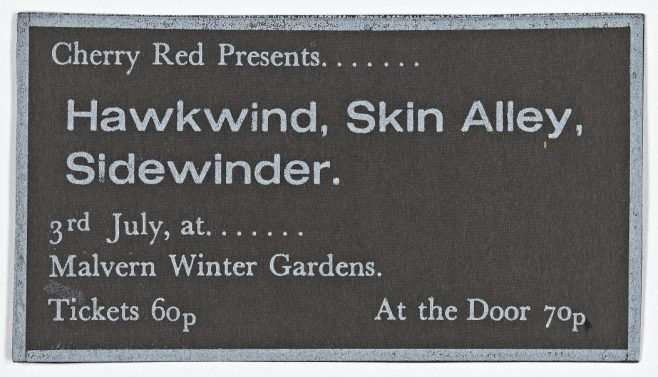 Ticket for Hawkwind at Malvern Winter Gardens, 03 July 1971