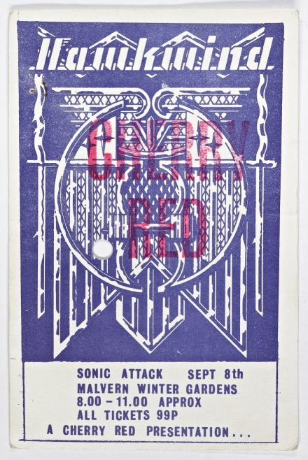 Ticket for Hawkwind at Malvern Winter Gardens, 08 September 1973 | Cherry Red Promotions
