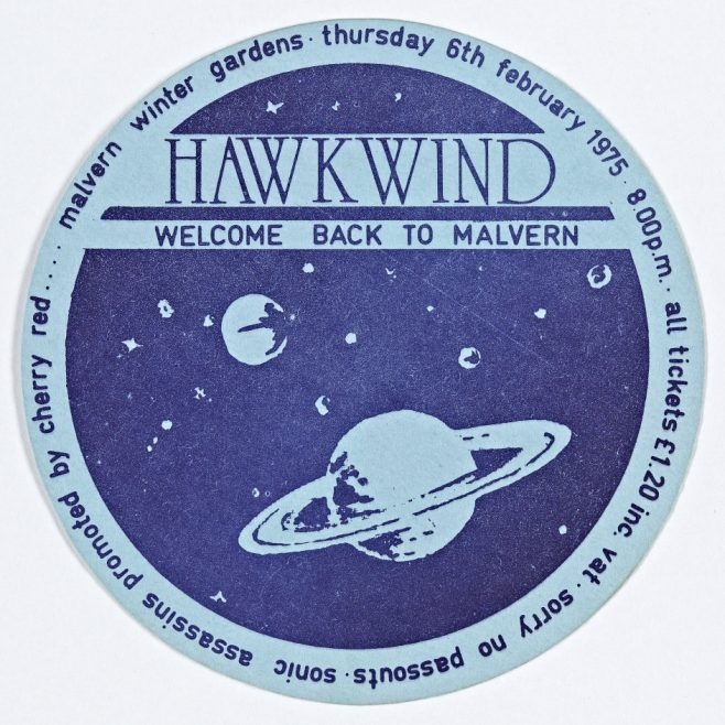 Ticket for Hawkwind at Malvern Winter Gardens, 06 February 1975