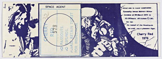 Ticket for Hawkwind at Malvern Winter Gardens, 09 March 1976