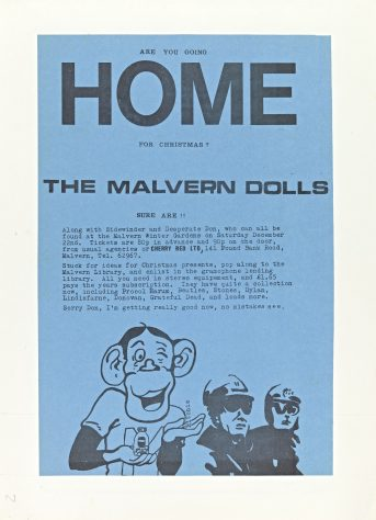Flyer for Home at Malvern Winter Gardens, 22 December 1973