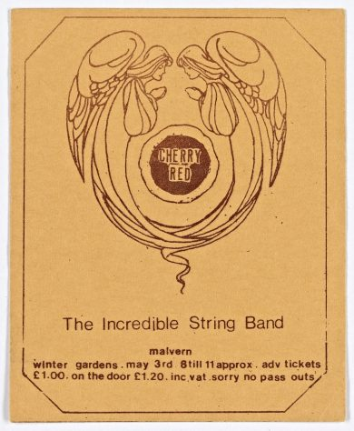 Ticket for The Incredible String Band at Malvern Winter Gardens, 03 May 1974