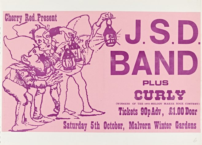 Flyer for The JSD Band at Malvern Winter Gardens, 05 October 1974