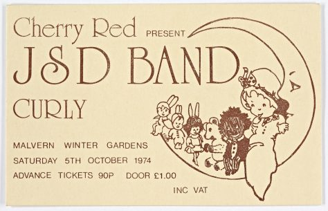 Ticket for The JSD Band at Malvern Winter Gardens, 05 October 1974