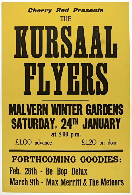 Poster for The Kursaal Flyers at Malvern Winter Gardens, 24 January 1976