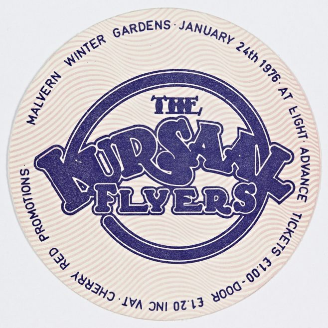 Ticket for The Kursaal Flyers at Malvern Winter Gardens, 24 January 1976