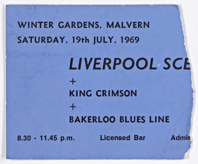 Ticket for The Liverpool Scene at Malvern Winter Gardens, 19 July 1969