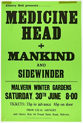 Medicine Head, Mankind, 30 June 1973