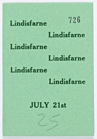 Ticket for Medicine Head at Malvern Winter Gardens, 30 June 1973 (back)