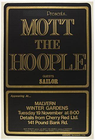 Mott the Hoople , Mick Ronson, Sailor, 19 November 1974 (cancelled)