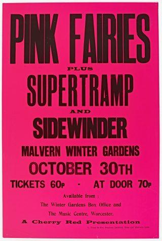 The Pink Fairies, Supertramp, 30 October 1971