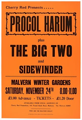 Procol Harum, The Big Two, 24 November 1973 (cancelled)