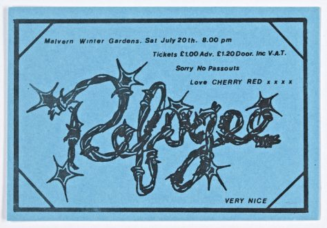Ticket for Refugee at Malvern Winter Gardens, 20 July 1974