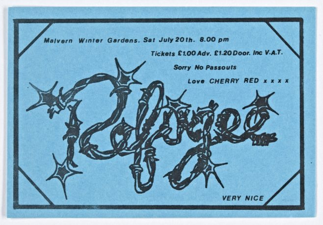 Ticket for Refugee at Malvern Winter Gardens, 20 July 1974 | Cherry Red Promotions
