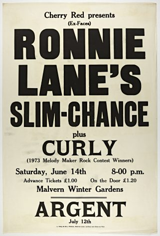 Ronnie Lanes Slim Chance, Curly, 14 June 1975