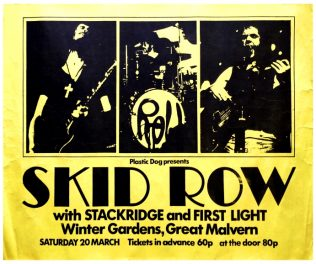 Poster for Skid Row at Malvern Winter Gardens, 20 March 1971 | Plastic Dog Promotions