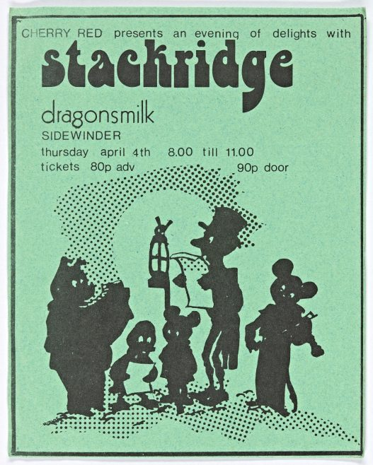 Ticket for Stackridge at Malvern Winter Gardens, 04 April 1974 | Cherry Red Promotions