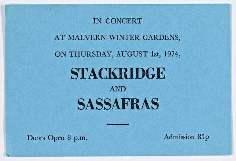 Stackridge, Sassafras, 01 August 1974