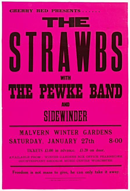 Poster for The Strawbs at Malvern Winter Gardens, 27 January 1973