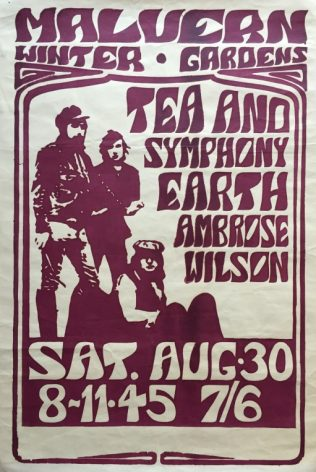 Poster for Tea and Symphony at Malvern Winter Gardens, 30 August 1969 | Severn Promotions