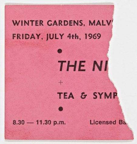 Ticket for The Nice at Malvern Winter Gardens, 04 July 1969