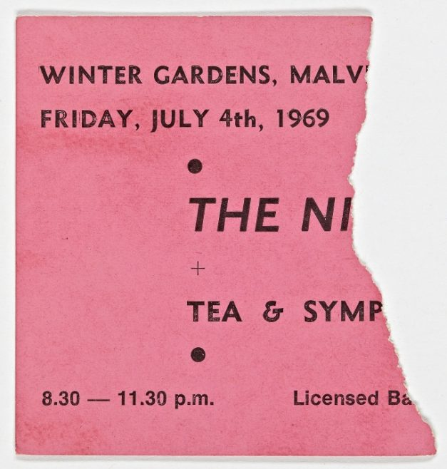 Ticket for The Nice at Malvern Winter Gardens, 04 July 1969 | Severn Promotions