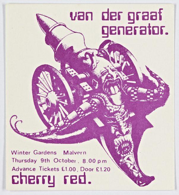 Ticket for Van Der Graaf Generator at Malvern Winter Gardens, 10 October 1975 | Cherry Red Promotions