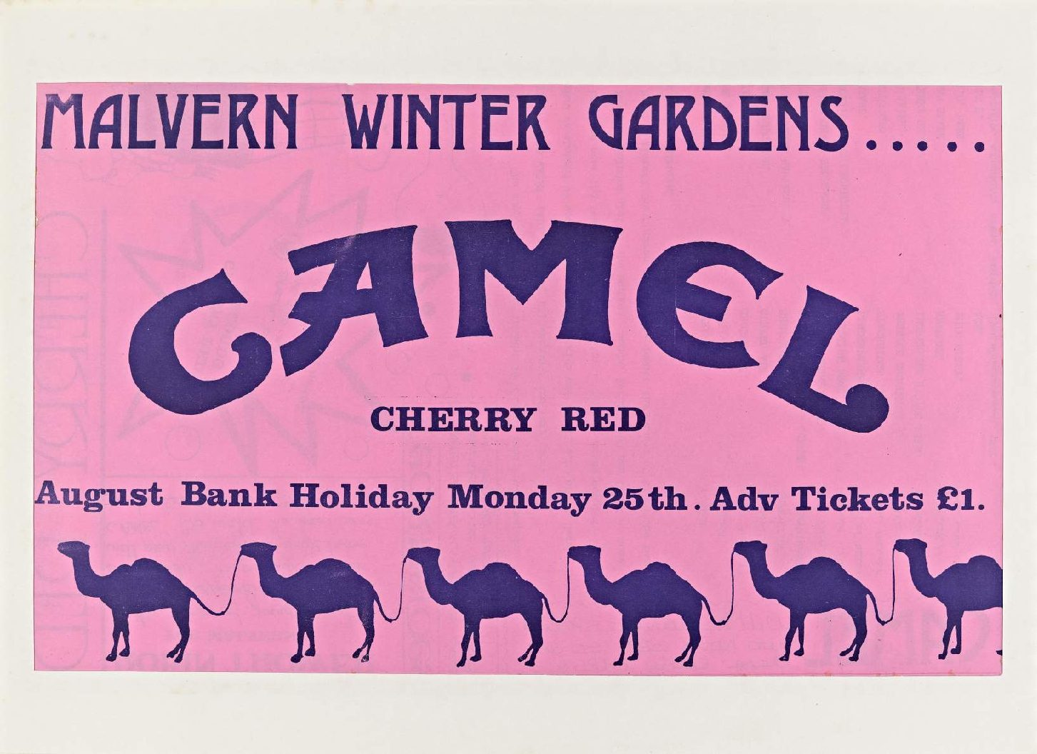 Cherry Red 'fanzine', including advert for Camel at Malvern Winter Gardens, 25 August 1975